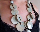 Handmade raku necklace, ceramic necklace, raku, art jewelry neckpiece
