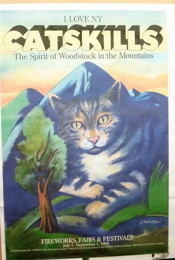 Milton Glaser I Love Ny Catskills Cats Poster