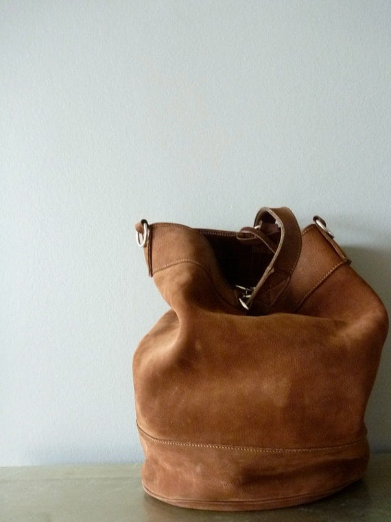 Huge Nutella Brown leather Charles et Charlus by AbbyinFrance