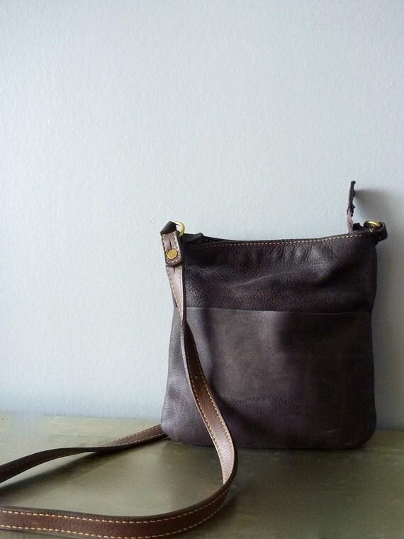 Dark Chocolate Brown Charles et Charlus FRANCE shoulder bag, vintage