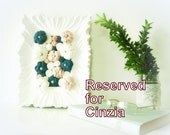 Fabric flower shabby frame wall art - 3D design home decor - pink blue white - OOAK spring bouquet - ready to ship