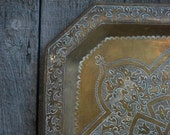 vintage brass tray from India