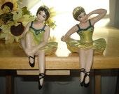 ballerina shelf sitters-ceramic arts studio: madison, wi