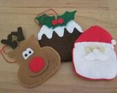 Christmas Decorations - Set of 3