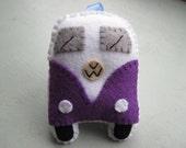 VW Campervan Gift VW Campervan Ornament Toy - Purple
