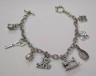 Sewing Charm Bracelet