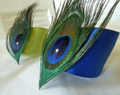 Peacock Feather Napkin Rings