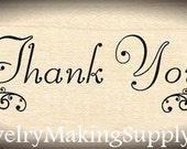 Wood Mounted Rubber Stamp Thank You
