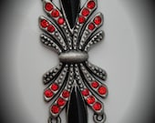 Silver Connector With Crystals And Enamel