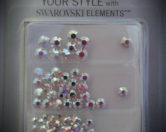 2,3,4mm Clear AB Crystallized Swarovski Crystal  Combo Pack