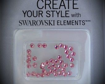 3mm Light Rose Flat back Crystallized Swarovski Crystal Pack