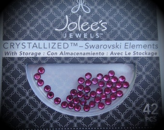 3mm Fuchsia HotFix Flat back Crystallized Swarovski Crystal Pack