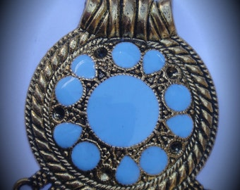 Gold Plated Pendant With Enamel