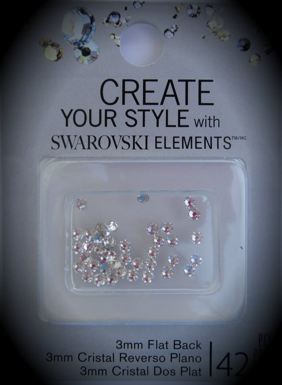 3mm Clear Flat back Crystallized Swarovski Crystal Pack