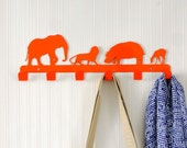 Coat hanger-animals-orange