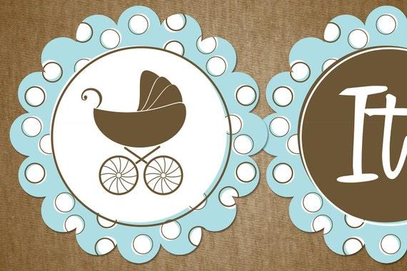 Items Similar To DIY Baby Shower Or Christening Banner