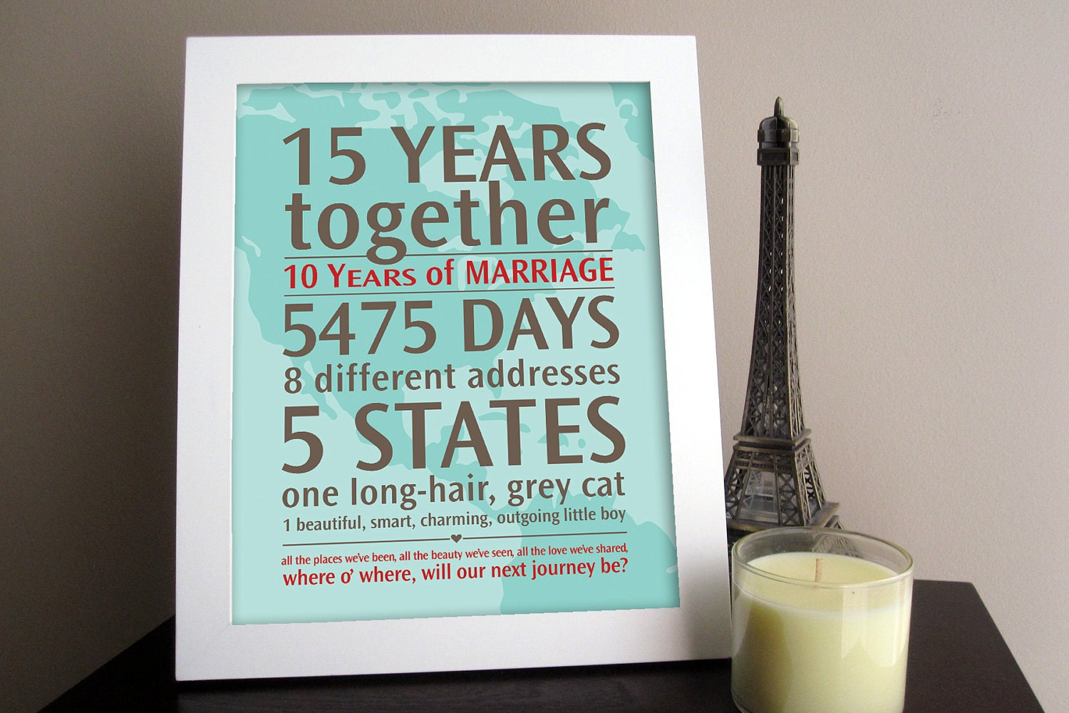 Personalized wedding anniversary gift your by