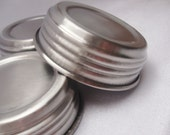 Sleek Silver Mason Jar Lids Set of 3