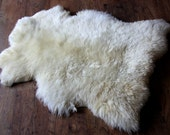 Eco lambskin rug, first year's fleece baby sheepskin pile-extra soft and dense- free of harsh chemicals