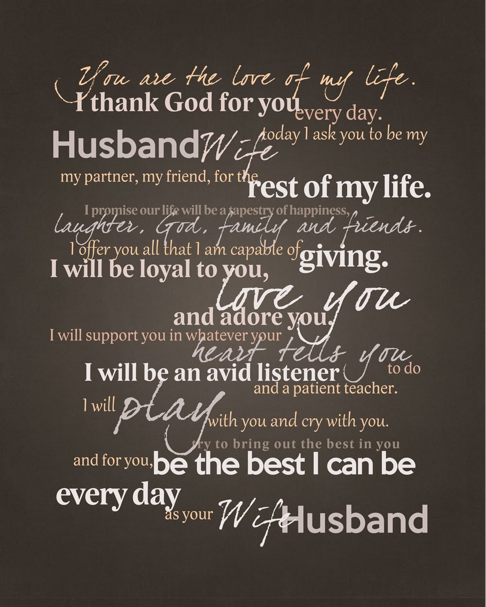 Best Wedding Vows: Frame Your Wedding Vows Adorable Graphic For Framing