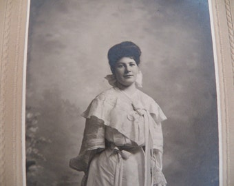 Beautiful Antique Graduation Photo of Young Lady-1910