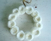 Delicate Coffee Filter Rolled Flower Wreath