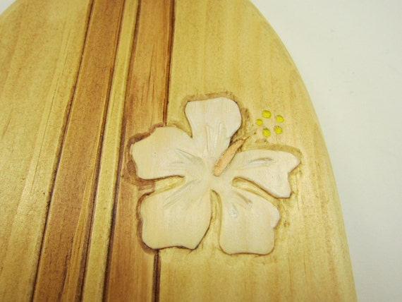Surfboard Hawaiian candle wall sconces Hand carved tropical