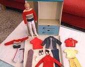 Vintage Ken Doll, Clothes, 2 pairs Shoes,1 Pair of Socks & 1962 Ken Clothes Case