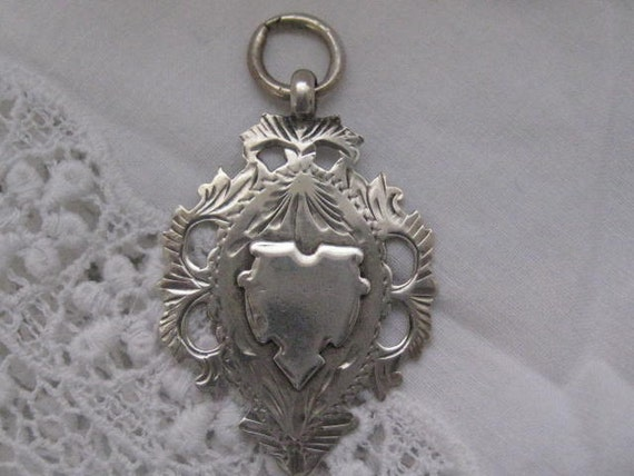 Antique English Hallmarked Silver Medal Fob c1891
