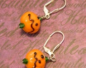 Jack o Lanterns - Halloween Samhain Earrings by Christina Davis