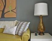 yellow glass lamp retro