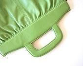 vintage green leather handbag