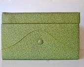 Retro green storage ottoman mid century modern