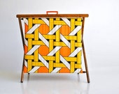 Retro folding knitting basket or stand