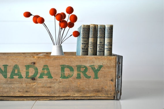 Wooden Canada Dry crate with four sections