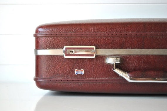 Vintage Suitcase - Burgundy, Cranberry, Fall/Autumn -  American Tourister luggage