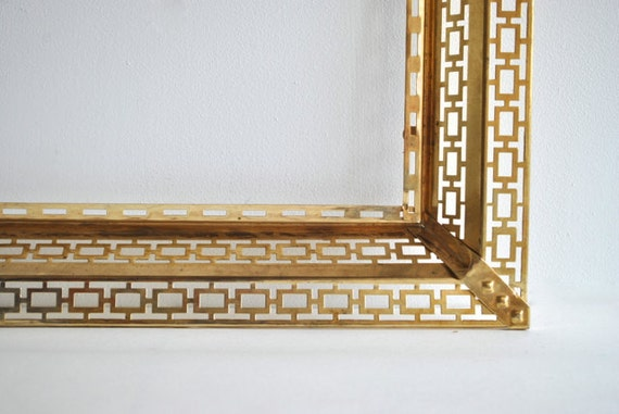 Mid Century lighted brass picture frame