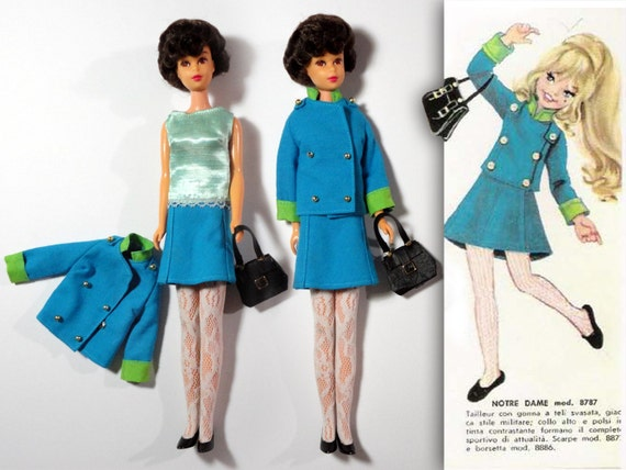 """For your Francie doll """"Notre Dame"""" ooak outfit from the """"Alta Moda Furga 1966"""" booklet"""