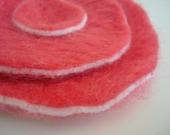 Needle felted pink poppy-poppy