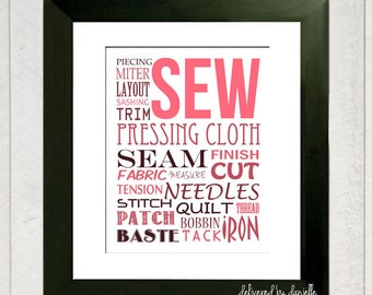 Sewing Art Print - 8x10