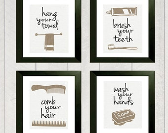 Bathroom Art Print Set Of 4
