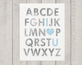 Nursery Art Print - Alphabet