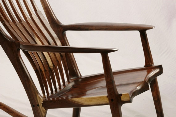 Handcrafted heirloom rocking chair