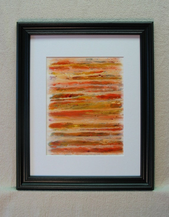 Mesa original abstract art acrylic painting on paper signed by artist