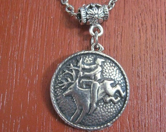 Pewter Button Necklace from Norway Peer Gynt