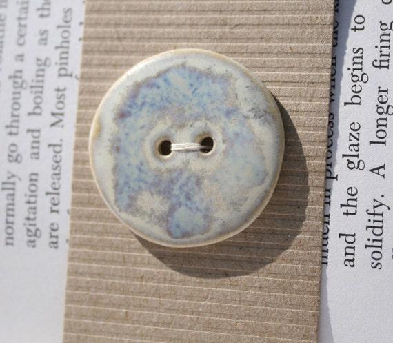 Ceramic Button: Porcelain round,  Marble glaze