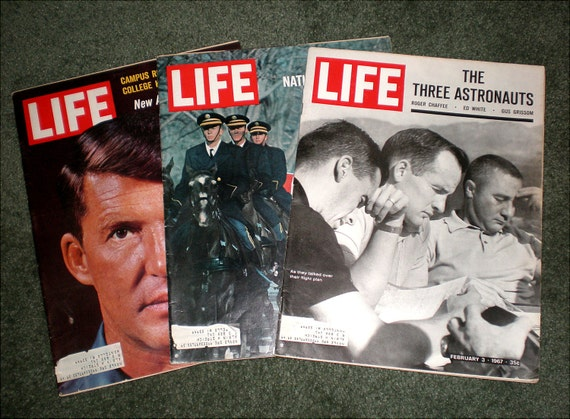 Three Life Magazines: Feb 3rd, Feb 10th, and May 19th All 1967 And Related to The Apollo 1 Disaster