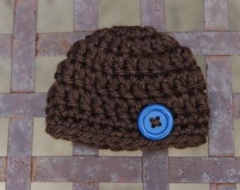 Crochet Newborn Baby Beanie