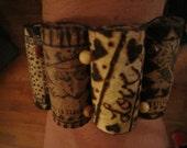 wine cork bracelet with beads