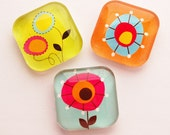 Flower Glass Magnets, Glass magnets, Fridge Magnets, Abstract Design, magnets, kitchen magnets (149)